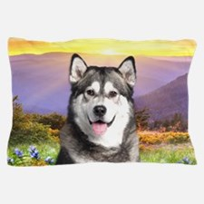 Malamute Meadow Pillow Case