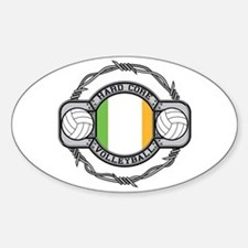 Ireland Volleyball Oval Decal