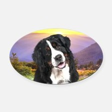 Berner Meadow Oval Car Magnet