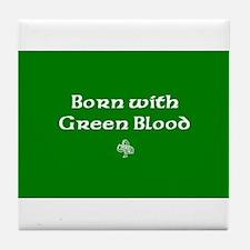 greenbloodcafe.jpg Tile Coaster