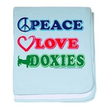 Peace Love Doxies/Dachshund baby blanket