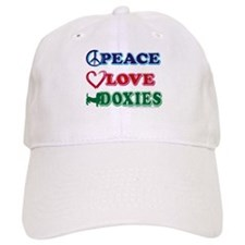 Peace Love Doxies/Dachshund Baseball Cap
