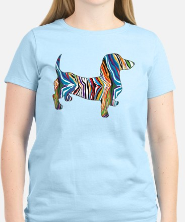 Psychedelic Doxie Dachshund Women's Light T-Shirt