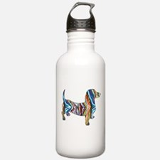 Psychedelic Doxie Dachshund Water Bottle