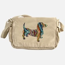 Psychedelic Doxie Dachshund Messenger Bag