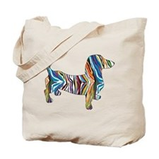 Psychedelic Doxie Dachshund Tote Bag