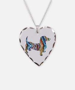 Psychedelic Doxie Dachshund Necklace