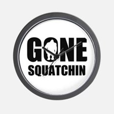 Gone sqautchin Wall Clock