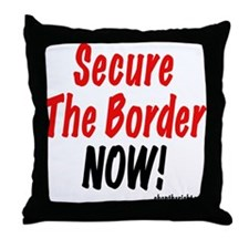 Secure The Border Now Throw Pillow