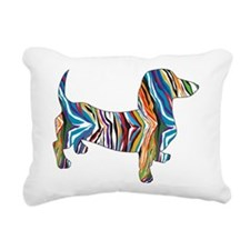 Psychedelic Doxie Dachshund Rectangular Canvas Pil