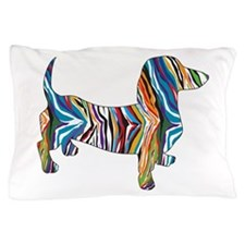 Psychedelic Doxie Dachshund Pillow Case