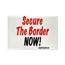 Secure The Border Now Rectangle Magnet