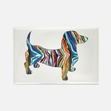 Psychedelic Doxie Dachshund Rectangle Magnet