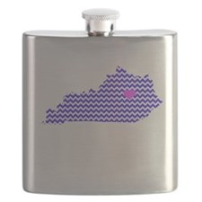 KY Chevron Lexington Flask