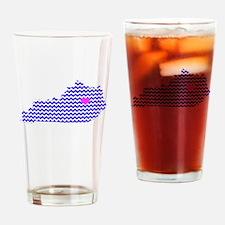 KY Chevron Lexington Drinking Glass