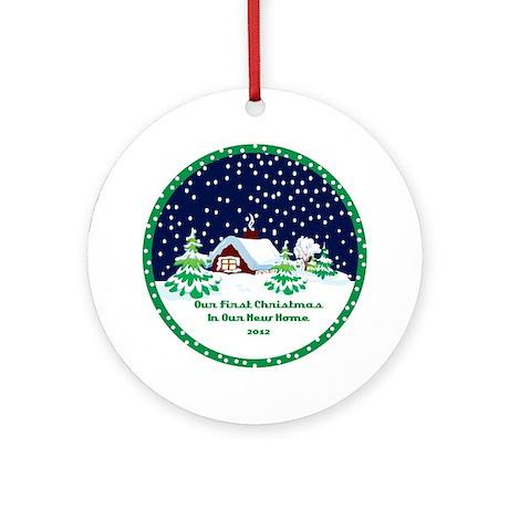 Cozy Cottage 1st Home Christmas Ornament 2012
