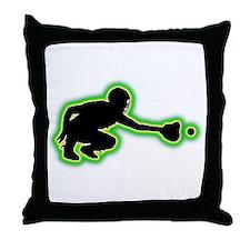 Softball Catcher Throw Pillow