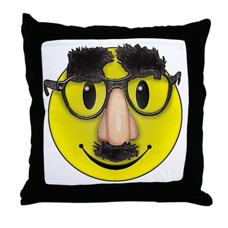 LOL Smilie face Throw Pillow