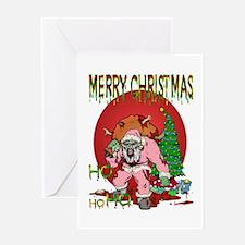 Ho Ho Horror Greeting Card