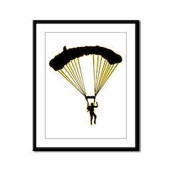 Parachuting Framed Panel Print