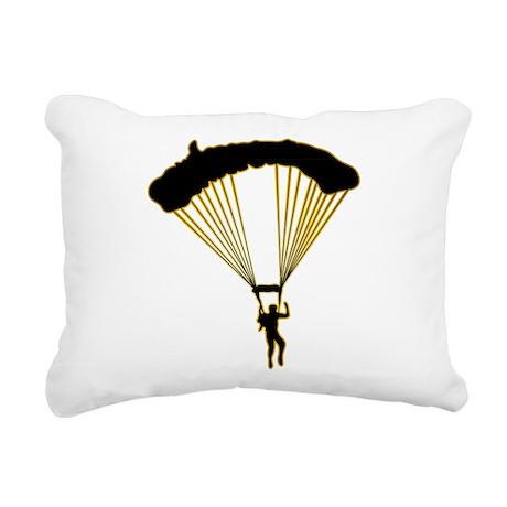 Parachuting Rectangular Canvas Pillow