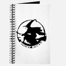 Witch Woman (black & white) Journal