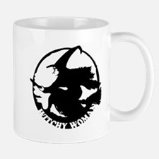 Witch Woman (black & white) Mug