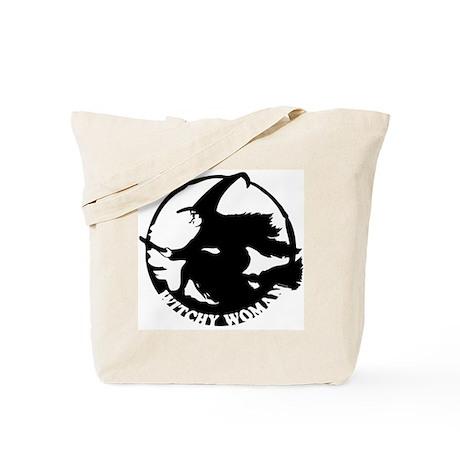 Witch Woman (black & white) Tote Bag