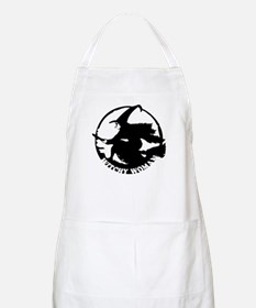 Witch Woman (black & white) BBQ Apron