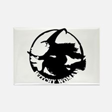 Witch Woman (black & white) Rectangle Magnet (100