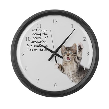 Kitten Large Wall Clock