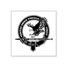 "SAD Unit Crest --B Square Sticker 3"" x 3&quot"