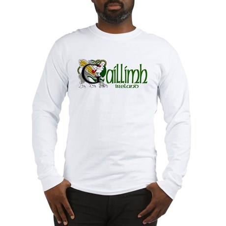 Galway Dragon (Gaelic) Long Sleeve T-Shirt