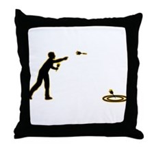 Lawn Darts Throw Pillow