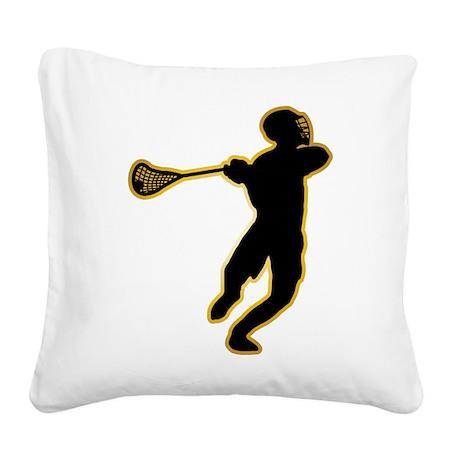 Lacrosse Square Canvas Pillow