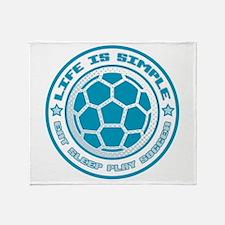 Eat, Sleep, Play Soccer Throw Blanket