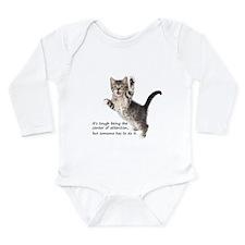 Kitten Long Sleeve Infant Bodysuit