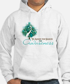 Cervical Cancer Xmas Ribbon Hoodie