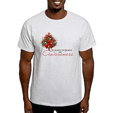 Red Ribbon Xmas Tree T-Shirt