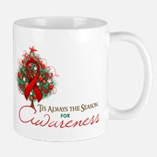 Red Ribbon Xmas Tree Mug