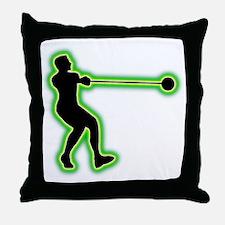 Hammer Throwing Throw Pillow