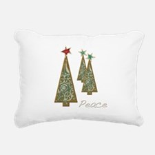 Christmas Peace Trees Rectangular Canvas Pillow