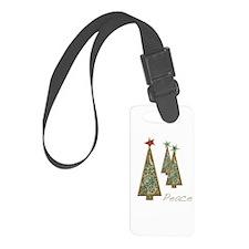 Christmas Peace Trees Luggage Tag