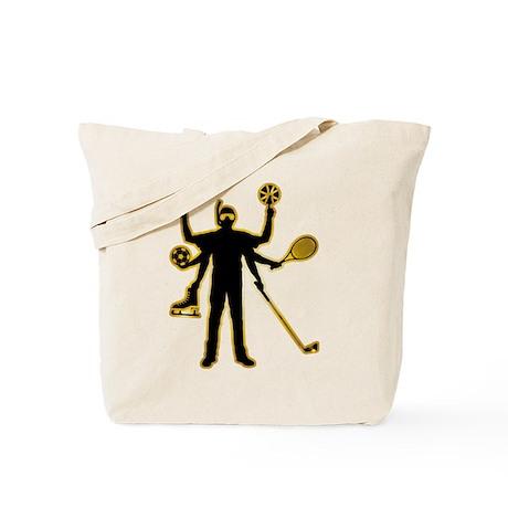 Multi-Talented Sportsman Tote Bag