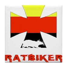 Rat biker Germany Tile Coaster