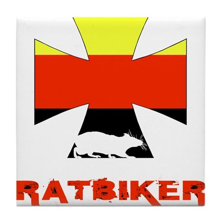 Rat biker Germany Tile Coaster