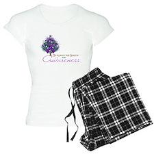 Purple Ribbon Xmas Tree Pajamas