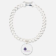 Purple Ribbon Xmas Tree Bracelet