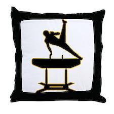 Gymnastic - Pommel Horse Throw Pillow