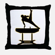 Gymnastic - Pommel Horse Throw Pillow